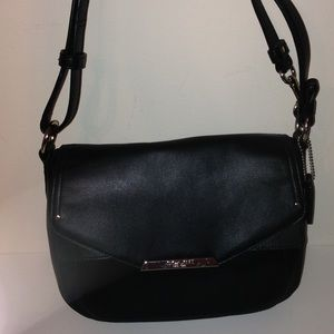 👛 COACH 👛 Taylor mini flap bag black leather
